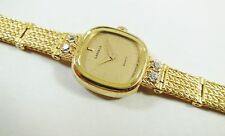 Lassale by Seiko Gold Tone Metal 1E50-0270 Gems Gold Sample Watch NON-WORKING