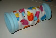 GUINEA PIG SNUGGLE BED FLEECE HOUSE TUNNEL HEDGEHOG FERRET RAT TOY PLAY PET