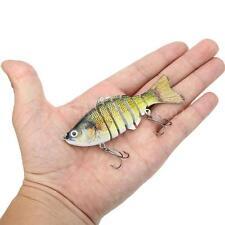 "10cm/4"" Multi Jointed Fishing Lure SUN-FISH Hard Bait Pike Muskie Swimbait H6R0"