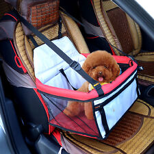 PawHut Pet Dog Car Seat Booster Tote Soft Safety Travel Carrier Bag Red/Grey