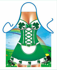 WOMENS SEXY NOVELTY APRON,IRISH DANCING GIRL,RIVER DANCE COSTUME,FANCY DRESS BBQ