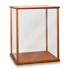 Wood and Glass Display Case #2 for Collectibles and Dolls Bradford Exchange
