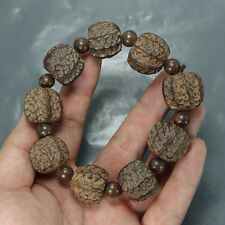 Tibetan Buddhist Natural Wood Beads beaded Prayer Bracelet Bangle