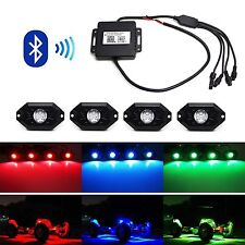 Universal Fit 3 CREE 9W High Power RGB Multi-Color LED Rock Light Kit Jeep Truck