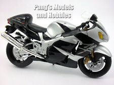 Suzuki GSX1300R Hayabusa 1/12 Scale Diecast Metal and Plastic Model - SILVER