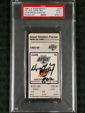 "WAYNE GRETZKY Signed NHL All-Time Scorer Ticket 3/23/94 w/ ""802"" Inscription PSA"