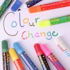 10 x MAGIC COLOUR SWAP PEN SET Colouring Felt Tip Markers Change Kids/Children