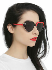 Suicide Squad Harley Quinn Joker Batman Red Black Heart Sunglasses 100% UVA NEW