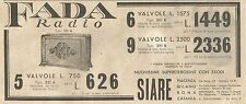 Y2072 FADA Radio Tipo 351 A - Pubblicità del 1933 - Old advertising