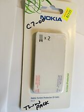 Screen Guard Protectors Clear - Nokia C7-00 Original Twin Pack CP-5001 Brand New