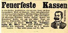 Feuerfeste Kassen Wien Trödlerhallen Historische Annonce 1910