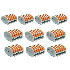 10 x Spring Terminal Block Cable 5 Wire Conductor Compact Connector 28-12AWG 415