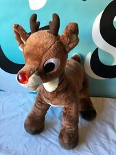 "Build A Bear Rudolph The Red Nose Reindeer 18"" Light Up Plush"