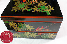 BOITE JAPONAIS URUSHI KYOTO LACQUERWARE TRADITIONAL BENTO BOX  MADE IN JAPAN