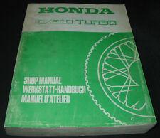 Werkstatthandbuch Honda CX 500 Turbo Shop Manual Manuel D´ Atelier Stand 1981!