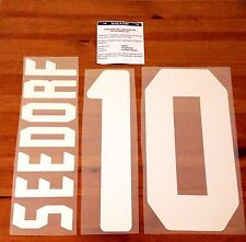 2006-07 AC Milan UCL Home Shirt SEEDORF#10 OFFICIAL StilScreen Name Number Set