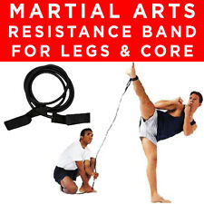 HEAVY MARTIAL ARTS MMA ANKLE LEG QUAD CALF RESISTANCE EXERCISE FITNESS TUBE BAND