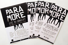 7 X PARAMORE FLYERS - UK 2013 TOUR AND NOTTINGHAM CAPITAL ARENA - NEW