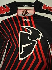 Thor Core Motocross Racing Jersey Long Sleeve Black Red White Men's M