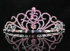 SWEET SIXTEEN 16 BIRTHDAY PINK RHIESTONE TIARA CROWN WITH COMBS PARTY T1404PINK