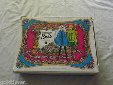 VINTAGE TOY 1968 MATTEL BARBIE DOUBLE DOLL CASE LOADED WITH CLOTHES