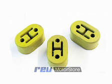 3 GREEN universal upgraded heavy duty exhaust rubber hanger support mounts