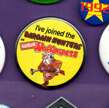 Bargain Wallpaper - I've Joined the Bargain Hunters - Button Badge 1980's