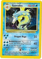 Gyarados 1999 Original Rare Holographic Pokemon Card #6/102