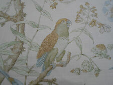 Lee Jofa Curtain Fabric 'Somerfield' 3.55 METRES (355cm) Gold/Lake - Linen Blend