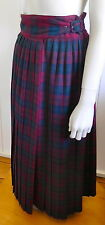 Next Collection vintage long tartan pleated wrap wool skirt size 6 - 8 (US 2 -4)
