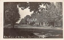 Ohio Postcard Real Photo RPPC 1908 BALTIMORE Section of North Main Homes