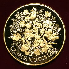 "*1977 Canada $100 Dollar Proof Gold Coin ""Silver Jubilee"" In Case w/ COA*"