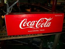 COCA COLA  REEFER TRAIN CAR  G SCALE , VERY NICE WITH BOX & SLEAVE