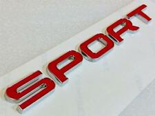 RANGE ROVER SPORT RED LETTERING SPORT REAR BACK BOOT BADGE LETTERS