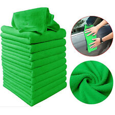5Pcs Green Microfiber Cleaning Auto Car Detailing Soft Cloths Wash Towel Duster