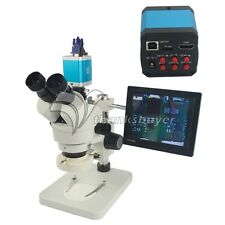 7X-45X Trinocular Industry Zoom Stereo Microscope & 14MP HDMI C-Mount DVR Camera