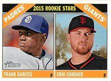 Frank Garces 27 2015 Topps Heritage Rookie Stars RC Erik Cordier