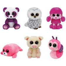 TY Beanie Boos -2016 SUMMER SET of 6 (6 inch) (Pierre, Scooter, Piggley, Owlette