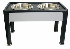 Raised Dog Bowls For Large Dogs Food Water Pet Dishes Stand Feeder Double Holder