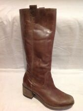Next Brown Knee High Leather Boots Size 42