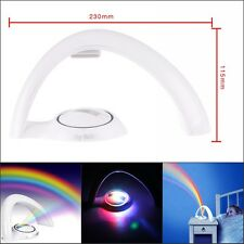 Magic Rainbow LED Room Lamp Projector Children Color  Night Light Lamp For Babys