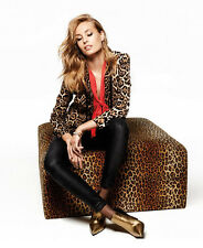 NWT Juicy Couture Crepe Leopard Print Single button Blazer Boyfriend Jacket Sz S