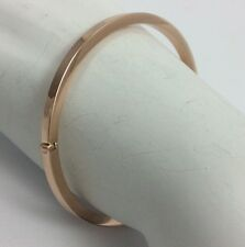 14K ROSE PINK GOLD ITALIAN BANGLE BRACELET