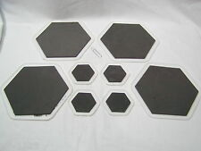 """Eight (8) Furniture Sliders 4X 7"""" hex + 4X 3"""" hex Carpet Wood Tile Free Shipping"""