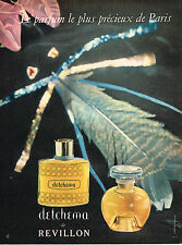 PUBLICITE ADVERTISING 045  1958  REVILLON  parfum DETCHEMA