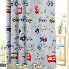 Kids Blockout Curtains Blackout Curtain Blue Car Bus Truck Boy 140cm x 223cm