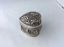 SUPERB SIAM SOLID SILVER NIELLO EMBOSSED TRINKET BOX  STANDING 70mm HIGH