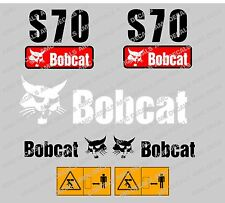 BOBCAT S70 SET DI ADESIVI DECAL DI SKID STEER