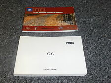 2005 Ponticac G6 Owner Owner's Manual User Operator Guide GT 3.5L V6 200hp FWD