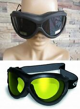 Lot 2 Motorcycle Goggle Fit Over RX Prescription Glasses Smoked Yellow Fitover
